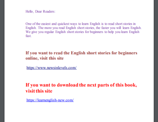English short stories for beginners PDF Books